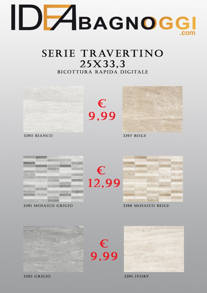 Serie Travertino 25x33,3
