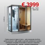Box doccia idro con sauna – cod. 1223