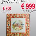 Cod. 4712.00 – Tavolo in Pietra Lavica decorato a mano