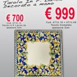 Cod. 4712.10 – Tavolo in Pietra Lavica decorato a mano