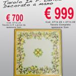 Cod. 4712.20 – Tavolo in Pietra Lavica decorato a mano