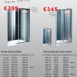 Serie 8 – Porte doccia cromo vetro 8/6mm