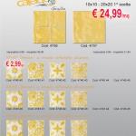 Caleidos giallo 10×10/20×20 e decori serigrafati 10×10