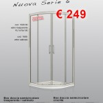 Nuova Serie 6 – Vetro trasparente – Box semicircolare