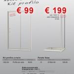 Nuova Serie 6 – Vetro trasparente – Kit profilo e Parete fissa