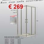 Nuova Serie 6 – Vetro cincillà – Box con ante scorrevoli