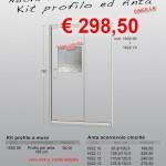Nuova Serie 6 – Vetro cincillà – Kit profilo ed anta