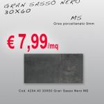 Ceramica – Svendita – 30X60 – Gran Sasso Nero