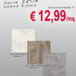 CERAMICA – Serie IRON – 45X45