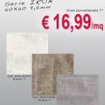 CERAMICA – Serie IRON – 60X60