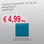 Ceramica – Svendita – 20X20 – Trasparente Acqua Marina MS