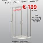Box Doccia Semicircolare – Vetro Trasparente